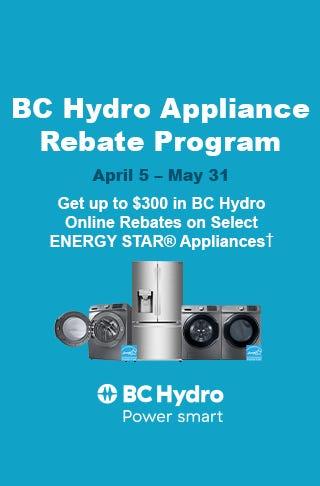 BC Hydro Online Rebates