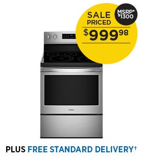 Whirlpool 30 inch Single Oven Electric Range - Stainless Steel