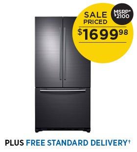 Samsung 17.5 cu.ft. Counter-Depth Bottom-Freezer Refrigerator - Black Stainless Steel, Ice Maker