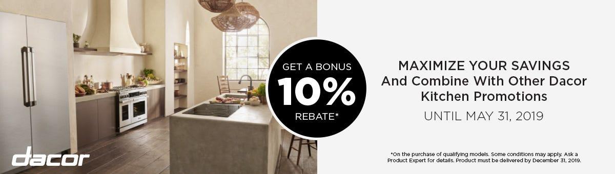 Dacor Bonus 10% Rebate