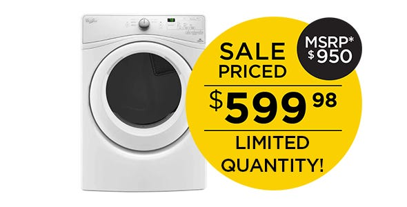 Whirlpool Front Load Dryer - White