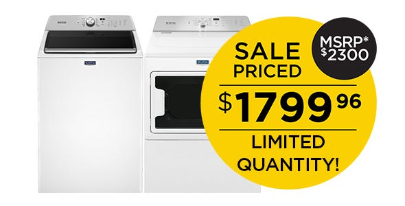 Maytag Top Load Laundry Pair - White