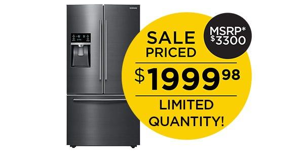 Samsung French Door Refrigerator - Black Stainless Steel