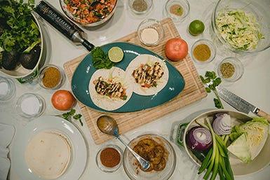 Prawn Tacos with Pico de Gallo & Chipotle Aioli