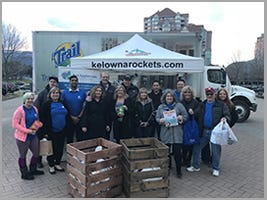 Trail Appliances and The Kelowna Rockets Fill the Truck for the Food Bank